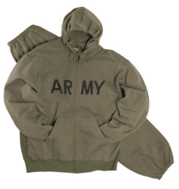 "Trainingspak  / joggingpak GROEN met opdruk  ""US Army"""