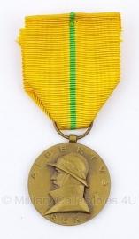 """Belgische """"Koning Albert 1909-1934"""" Albertus rex bronzen medaille - Origineel"""