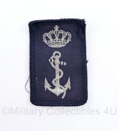 Koninklijke Marine Dienstvakembleem mouw embleem - met klittenband -  7,5 x 5 cm - origineel