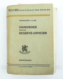 Handboek voor de reserve-officier - VS 2-1352 - uit 1958 - origineel