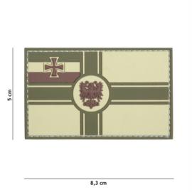 Embleem 3D PVC met klittenband - Duitse Empire vlag - multicamo - 8,3 x 5 cm.