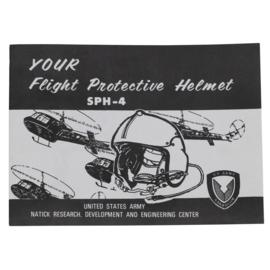 Handleiding voor US pilotenhelm SPH-4 - nieuwstaat - origineel!