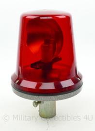 Zwaailicht rood 6 volt voor voertuigen - 26,5 x 12 x 10 cm - origineel