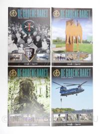 Tijdschrift set van 4 stuks KCT Korps Commando Troepen 2017 - 30 x 21 cm - origineel