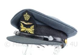 Klu Luchtmacht jaren 70 platte pet onderofficier - F.A. Hassing -  maat 59 - origineel