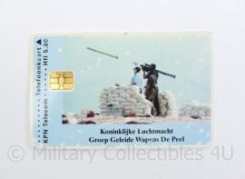 KLU Luchtmacht GGW Groep Geleide Wapens de Peel belkaart - 8,5 x 5 cm - origineel