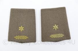 KL Nederlandse leger wollen mantel epauletten schouderstukken set - Majoor - origineel