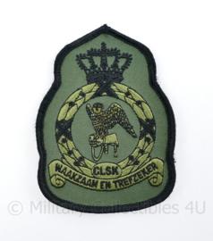 KLU Koninklijke Luchtmacht CLSK Commando's Lucht Strijdkrachten mouwembleem - Waakzaam en Trefzeker - 11,5 x 8 cm - origineel