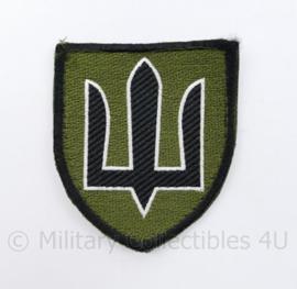 Camouflage Ukrainian Army patch emblem Flag Cossack Sables Black on Green  - met klittenband  - 8,5 x 7 cm - origineel