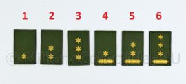 KL Nederlandse leger rangembleem met klittenband GROEN - officieren - 5 x 8 cm