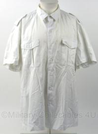 Korps Mariniers Tropenwit dik overhemd wit - korte mouw - maat 48 - origineel