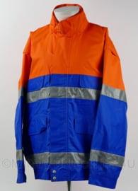 4U2C veiligheidskleding werkjack blauw oranje reflecterend - maat XLarge - NIEUW - origineel