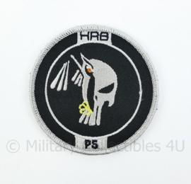 KMAR Koninklijke Marechaussee HRB Hoog Risico Beveiliging P5 embleem - met klittenband - diameter 9 cm