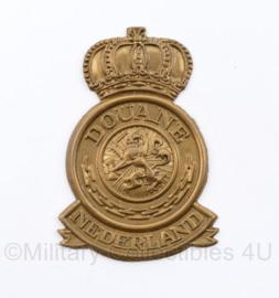 Nederlandse Douane Nederland pet insigne - mist beide pinnen - 6,5 x 4,5 cm - origineel