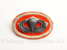 WO2 US Parawing Parachutist Badge met oval wing - 6 x 4 cm - replica