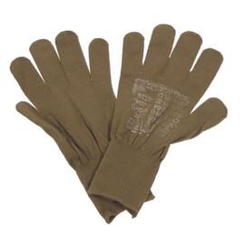 US Army leger handschoenen - bruin - zeer goede staat - origineel