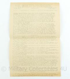 krant de Nieuwsbode - 9 mei 1945 - origineel