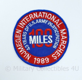 Nijmegen International Marches 1989 embleem US Army 100 miles - diameter 9,5 cm -origineel