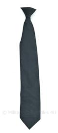 KL Nederlandse leger en KMAR stropdas met clip cliptie 50 cm - Delta Houten - zwart - 100% polyester - origineel