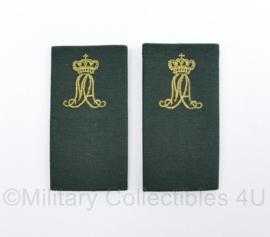 KL Nederlandse leger MA Militaire Academie DT2000 epauletten schouderstukken set - soldaat - origineel