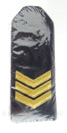 """KM Koninklijke Marine schouder epauletten """"Sergeant"""" - nieuw in verpakking - origineel"""