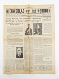Krant Nieuwsblad van het Noorden - 11 december 1936 - origineel