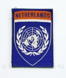Embleem VN UN United Nations Netherlands - met klittenband  - 8,5 x 5 cm - origineel