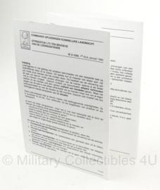 KL Nederlandse leger instructiekaart Commando Opleidingen - IK 2-1250 - druk 1 - origineel