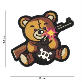 Embleem 3D PVC met klittenband - Terror Teddy Colour 10 x 7,5 cm.