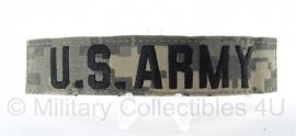 Borstembleem ACU camo 'U.S. Army' - met klitteband - origineel
