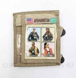Zeldzame originele Afghanistan ISAF pols ID houder - 15 x 12,5 cm - NIEUW - origineel