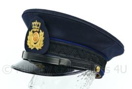 KL Landmacht platte pet GLT gala met blauwe bies en insigne voor Officieren - maat 59 - origineel