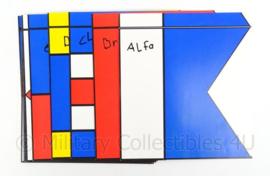 KM Koninklijke Marine lettervlaggen kaart set 27 stuks- complete set  - origineel