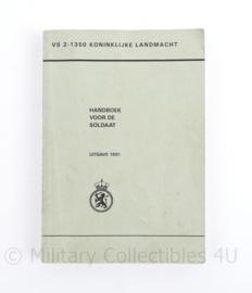 Handboek voor de soldaat Koninklijke Landmacht VS 2-1350 1991   - origineel