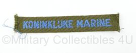 TRIS Koninklijke Marine straatnaam enkel  - 11,5 x 2 cm - origineel