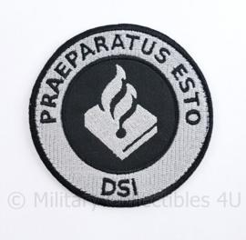 "Nederlandse Politie DSI  Dienst Speciale Interventie embleem ""Praeparatus Esto"" -  met klittenband - diameter 9 cm -"