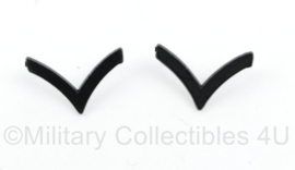 Origineel US Army rangen paar voor op de kraag  -  2,5 x 1,5 cm - origineel