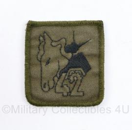Defensie eenheid borst embleem 42 BVE 42 Brigade Reconnaissance Squadron - met klittenband - 5,5 x 5 cm - origineel