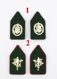 KL Kraagspiegels met groene achtergrond - 1 paar naar keuze - origineel