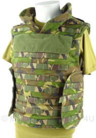 KL Landmacht woodland scherfwerend vest - met platen - model MOLLE - maat Medium - origineel