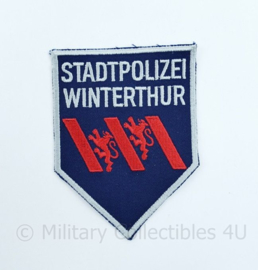 Zwitserse Stadtpolizei Winterthur embleem - 11 x 8  cm - origineel