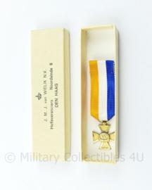 Defensie 25 jaar trouwe dienst mini medaille in origineel van Wielik doosje - 6,5 x 2 cm - origineel