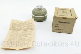 Auer gasmaskerfilter 1979 - nieuw in doosje - 10 x 11 x 11 cm - origineel