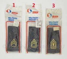 US Army SUSCO en AAFES shoulder boards - in verpakking -  5,5 x 11 cm. - 1 paar - origineel
