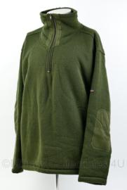 Groene dikke warme sweater met fullzip en hoge kraag - maat XXXL - merk Free2be - origineel