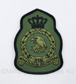 KLU Koninklijke Luchtmacht embleem 519 squadron Waakzaam en Doeltreffend - met klittenband - 11,5 x 8 cm - origineel