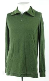 KM Marine Korps Mariniers rolkraag hemd Midlayer Olive Green MNSN - Noorse leger productie - maat XXL - origineel
