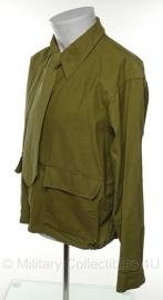 Impreonole weather-sealed blouse met stropdas - complete set - groen - kleine maat - origineel