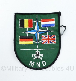 Defensie MND embleem  - 9,5 x 7 cm - origineel