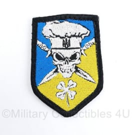 Oekraïense leger embleem - met klittenband - 10 x 7 cm - origineel